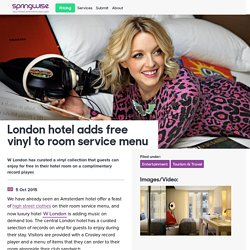 London hotel adds free vinyl to room service menu