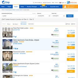 London hotels - 2347 cheap accommodations from CNY 297