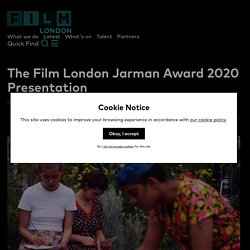 The Film London Jarman Award 2020 Presentation