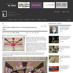 JWT London's Edible Poster for Mr Kipling Takes the Cake