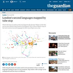 London's second languages mapped by tube stop
