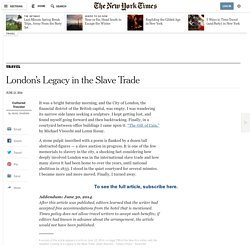 London's Legacy in the Slave Trade
