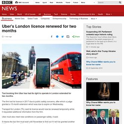 Uber's London Licence Renewed For Two Months