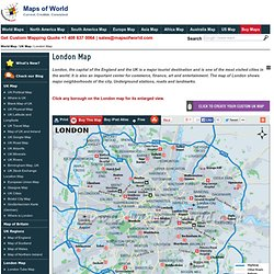 London Map, Map of London City, UK