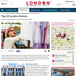 Top 10 London Markets - Things To Do