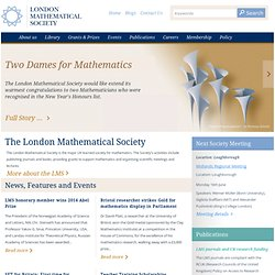 Homepage | London Mathematical Society