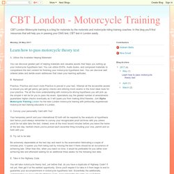 CBT London - Motorcycle Training: Learn how to pass motorcycle theory test