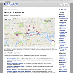 London museums map - London - MapLord