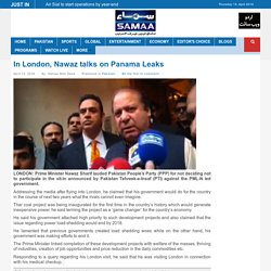 In London, Nawaz talks on Panama Leaks
