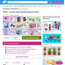 FREE! - London Paper Model Resource Pack (teacher made)