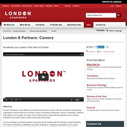 London & Partners: Jobs
