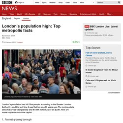 London's population high: Top metropolis facts
