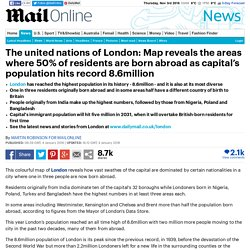 London map reveals the areas where 50% of residents are born abroad