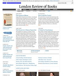 London Review of Books · 17 November 2011