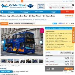 Hop On Hop Off London Bus 24Hr Ticket
