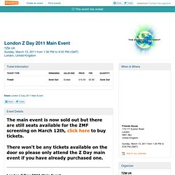 London Z Day 2011 Main Event