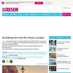 London – 20 tips på saker att göra