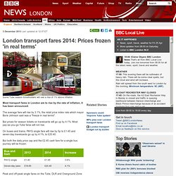 London transport fares 2014: Prices frozen 'in real terms'