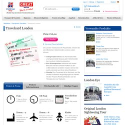 London Travelcard kaufen