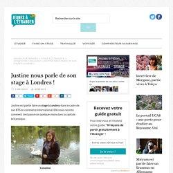 Stage à Londres : le témoignage de Justine