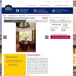 Hotel Londres BEST WESTERN Burns Hotel Kensington - 3 etoiles