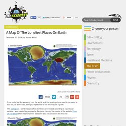 A Map Of The Loneliest Places On Earth
