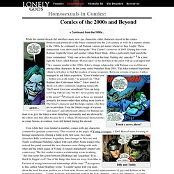 Lonely Gods: Homosexuals in Comics - year 2000 and beyond