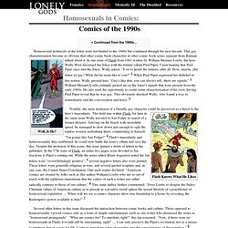 Lonely Gods: Homosexuals in Comics - the 1990s