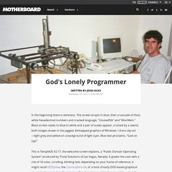 God's Lonely Programmer