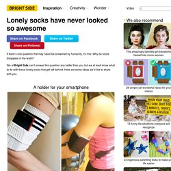 Lonely socks have never looked so awesome
