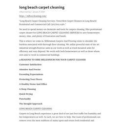 long beach carpet cleaning