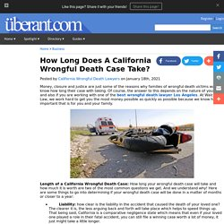 How Long Does A California Wrongful Death Case Take?