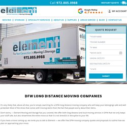 DFW Long Distance Moving Companies, Long Distance Moving in DFW