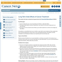 Long-Term Side Effects of Cancer Treatment