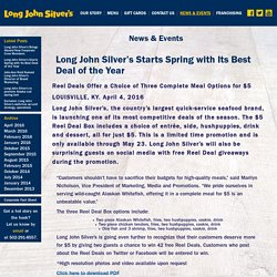 Long John Silver's Starts Spring with Its Best Deal of the Year