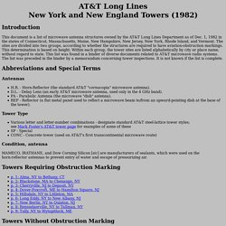 AT&T Long Lines New York and New England Towers (1982)