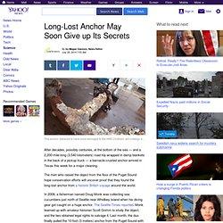 Long-Lost Anchor May Soon Give up Its Secrets