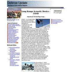 Long Range Acoustic Device - LRAD