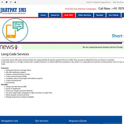 Long Code SMS Patna - Jhatpat SMS