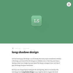 long shadow design — Jeff Escalante