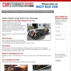 Long Term Car Storage Solutions Gold Coast