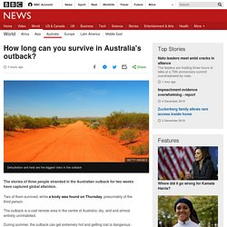 How long can you survive in Australia's outback?