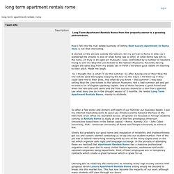 luxury apartment rentals in rome