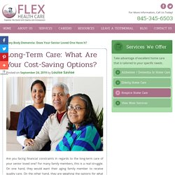Long-Term Care: What Are Your Cost-Saving Options?