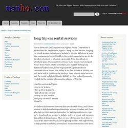 long trip car rental services