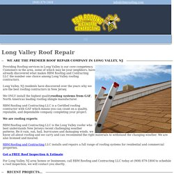Roof Repair Company in Long Valley