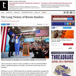 The Long Victory of Bernie Sanders