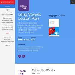 Long Vowels Lesson Plan