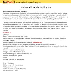 How long will Kybella swelling last