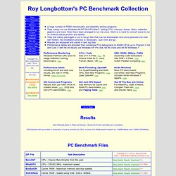 Roy Longbottom's PC Benchmark Collection - Free PC Benchmarks